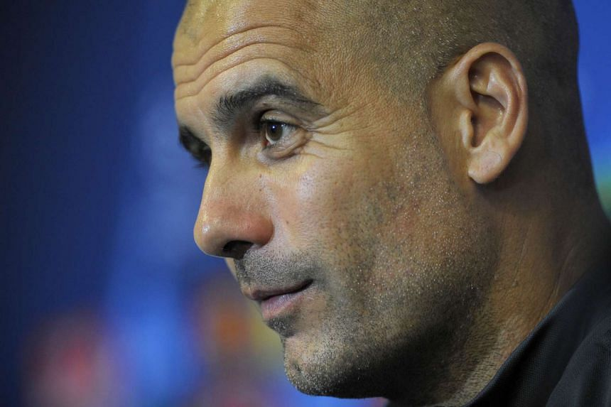"""Manchester City manager Pep Guardiola (above) praised his Tottenham Hotspur counterpart Mauricio Pochettino, calling him """"one of the best managers in the world""""."""