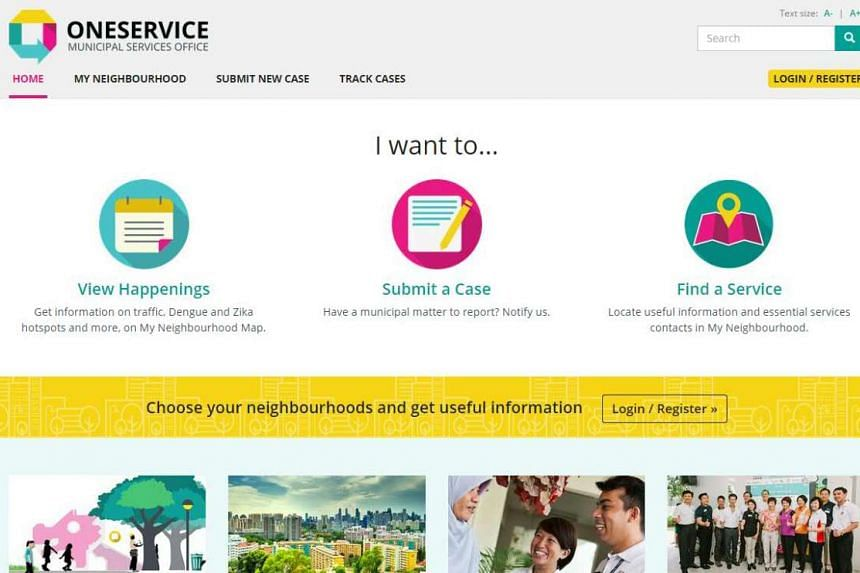 The new OneService Portal, which was launched on Sept 30, now allows residents to report municipal issues.