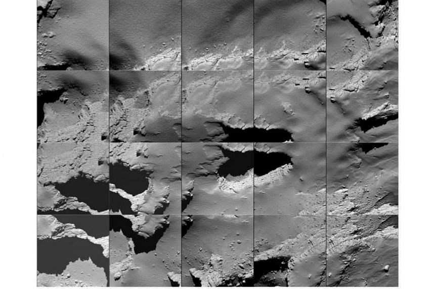 A sequence of images captured by Rosetta during its final descent to the surface of Comet 67P/C-G on Sept 30, 2016.