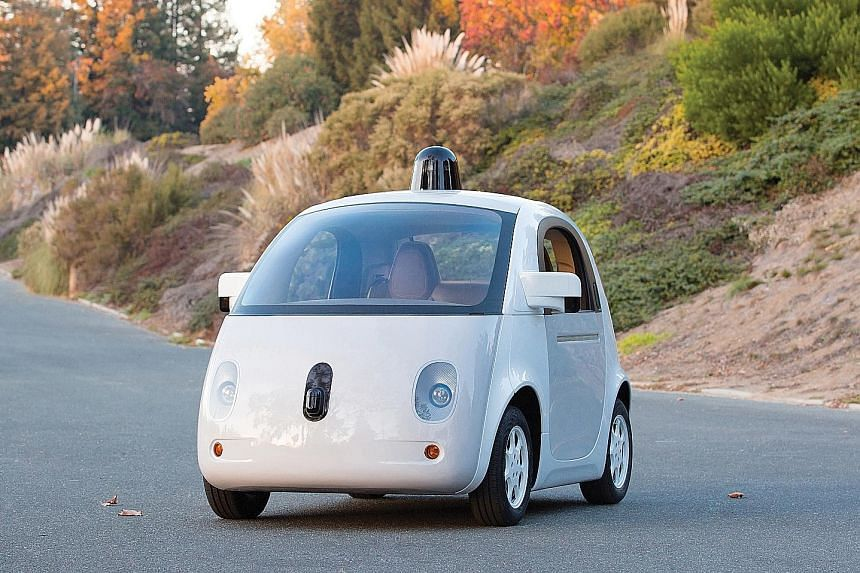 Google's Self-Driving Car (above).