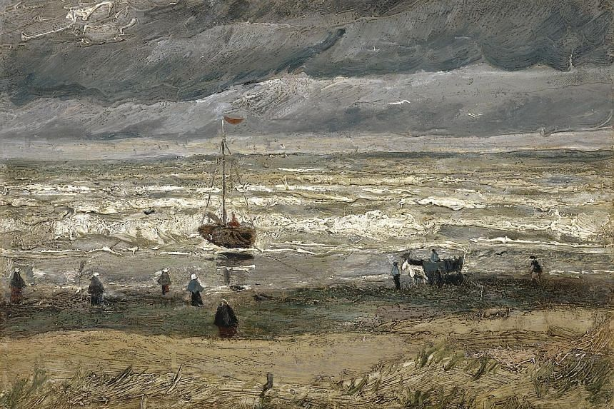 Seascape At Scheveningen (top) and Congregation Leaving The Reformed Church In Nuenen were stolen from the Van Gogh Museum in December 2002.