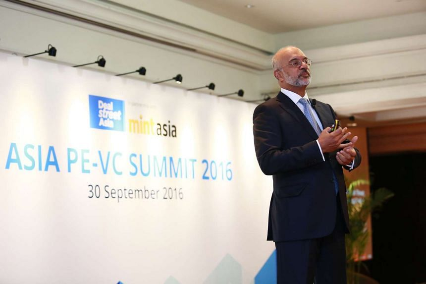 DBS CEO Piyush Gupta speaks during the Asia PE-VC Summit 2016.