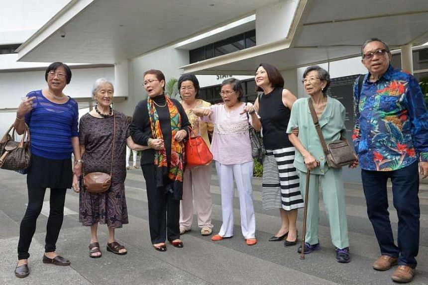 Supporters and friends of Madam Chung.