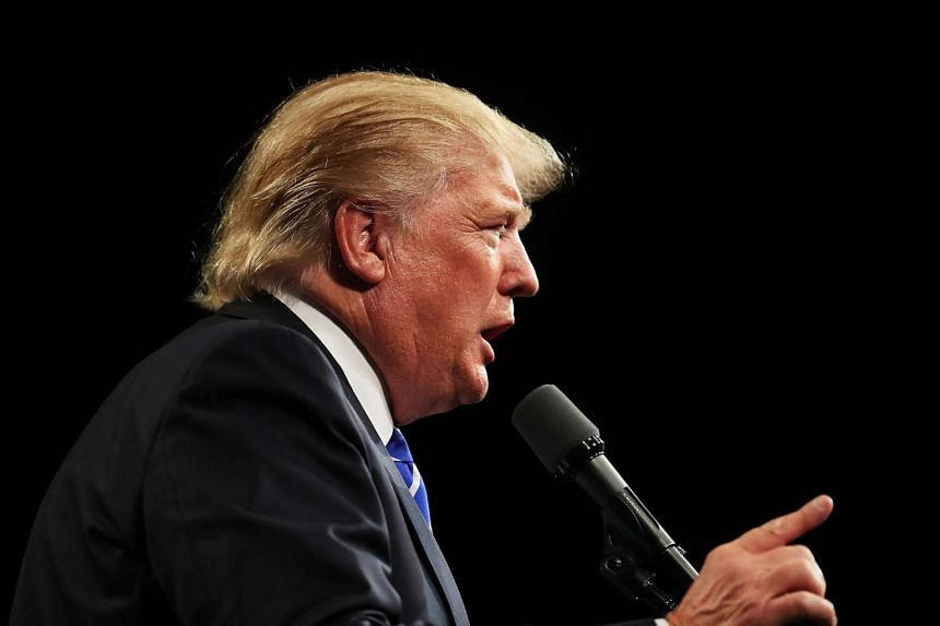 Republican presidential nominee Donald Trump speaks at a rally on Sept 30, 2016.