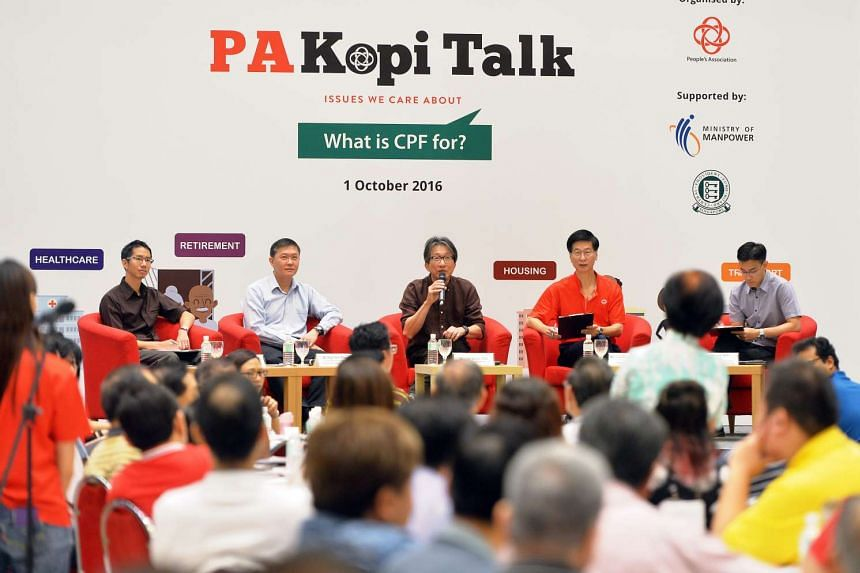 Minister for Manpower Mr Lim Swee Say (centre) speaking at a dialogue session for 300 GRLs and PA staff on Oct 1, 2016.