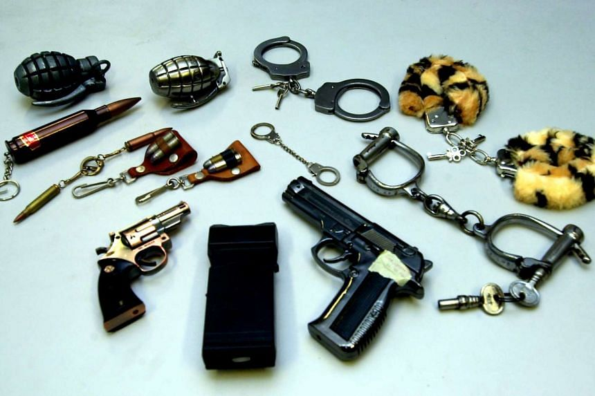 Controlled or banned items in Singapore that have been seized by authorities.