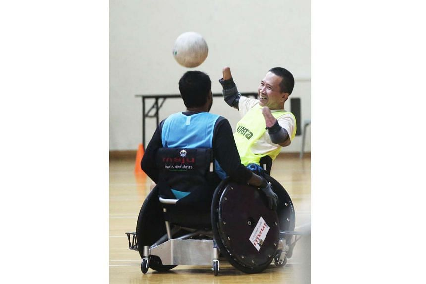 Mr Tan Whee Boon will be playing in his first international wheelchair rugby meet in Jakarta on Oct 6, 2016.