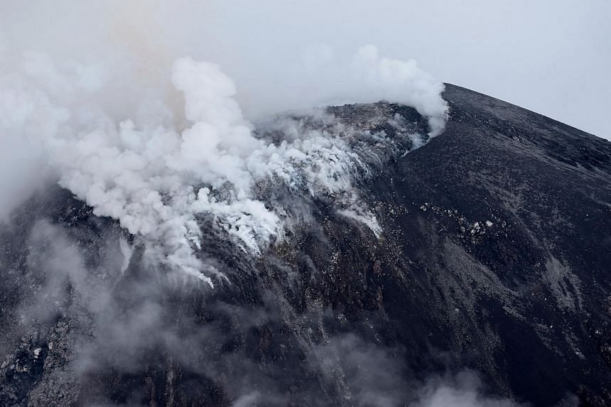 A handout photo released by the Proteccion Civil Jalisco showing the Volcan de Fuego in Jalisco State, Mexico on Oct 1, 2016.