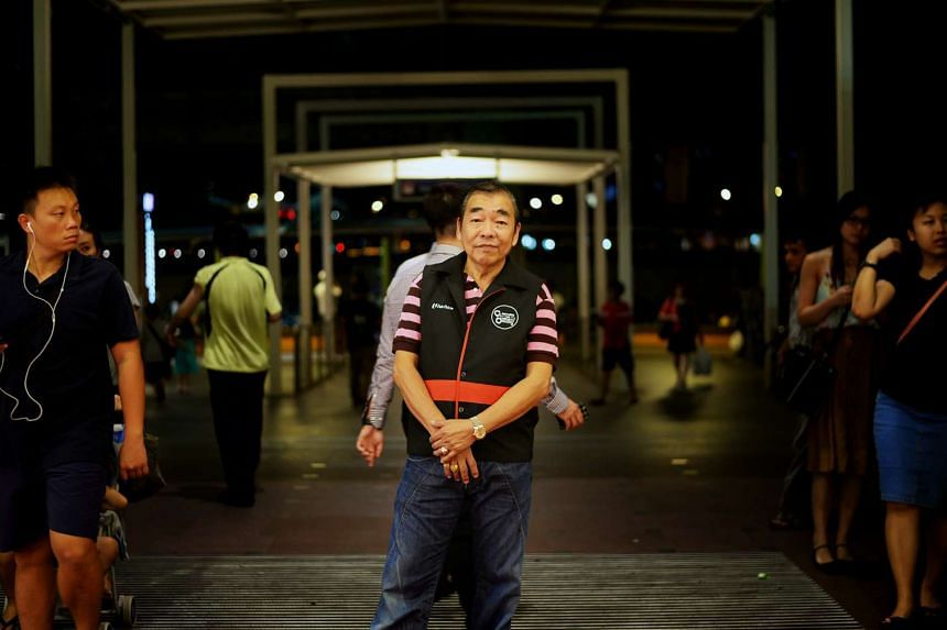 Mr Raymond Yow is one of NTUC FairPrice's trolley enforcement officers, and patrols around Jurong Point to ensure that no one leaves the mall with the supermarket's trolleys.