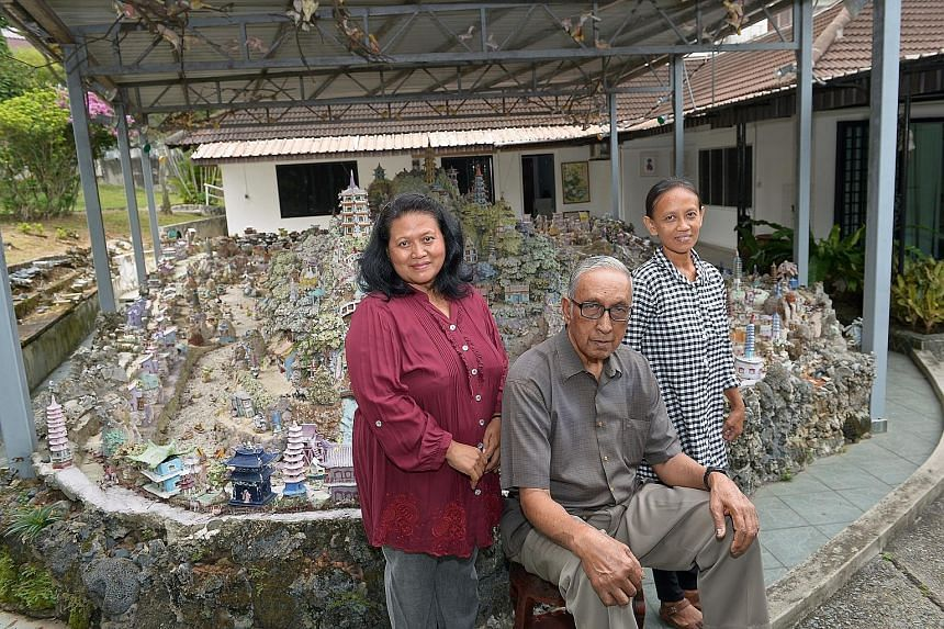 Madam Chung's former employees (from left) Ms Surti, Mr Jarudin and Ms Yuliani. Mr Jarudin said he knew Yang was trouble the moment he moved into the Gerald Crescent bungalow in 2009.