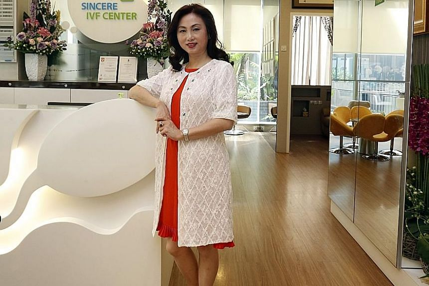 Chief executive officer Ms Bi at Sincere Healthcare Group's IVF centre, which has recorded over 200 successful cases. Prof Ng is the medical director of Sincere, whose medical facilities here include an IVF centre and a specialist centre for men.