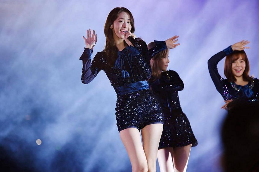 Girl group Girls' Generation member Yoona at the inaugural Busan One Asia Festival on Oct 2.
