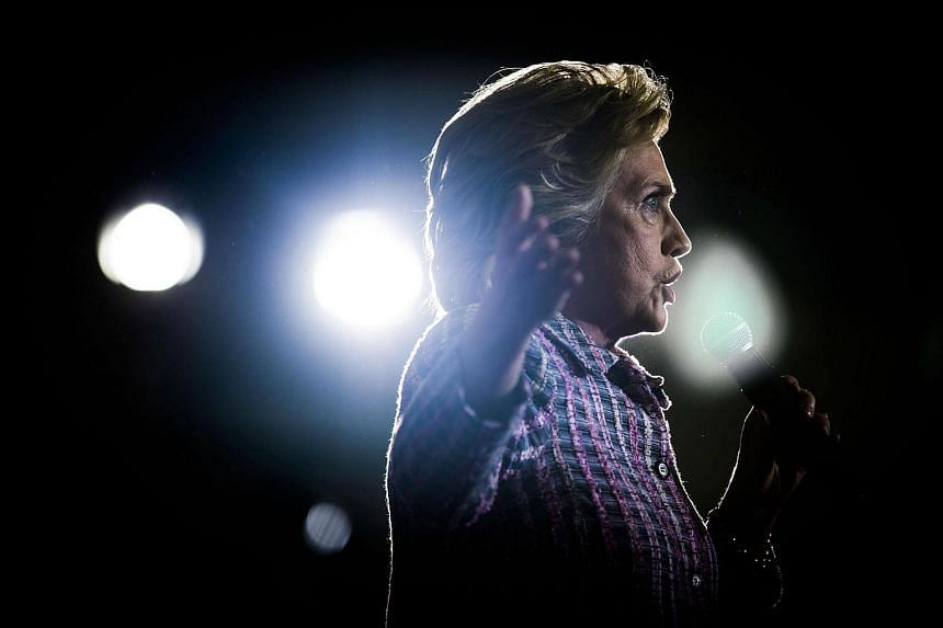Hillary Clinton speaks at a campaign event in Coral Springs, Florida, on Sept 30, 2016.