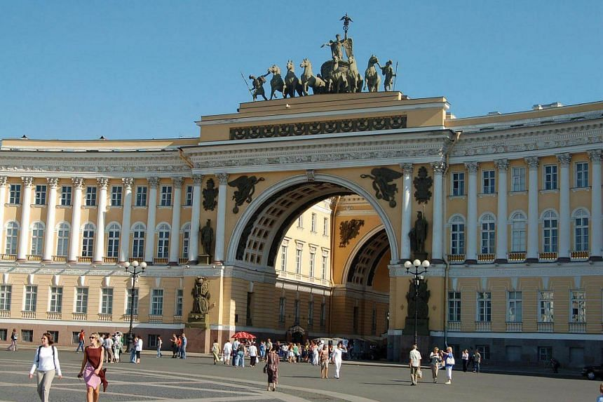A view of St Petersburg, Russia. For two hours in Russia, the author had no passport, no wallet and no credit cards.