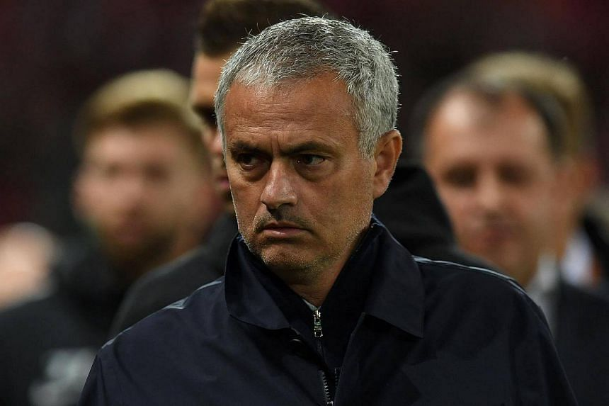 Manchester United's Portuguese manager Jose Mourinho at the football match between Manchester United and Zorya Luhansk at Old Trafford stadium in Manchester, north-west England on Sept 29, 2016.