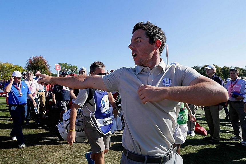 World No. 3 Rory McIlroy had to deal with rowdy fans on nearly every hole on Saturday and pointed out a particularly bothersome heckler to officials at the seventh hole.