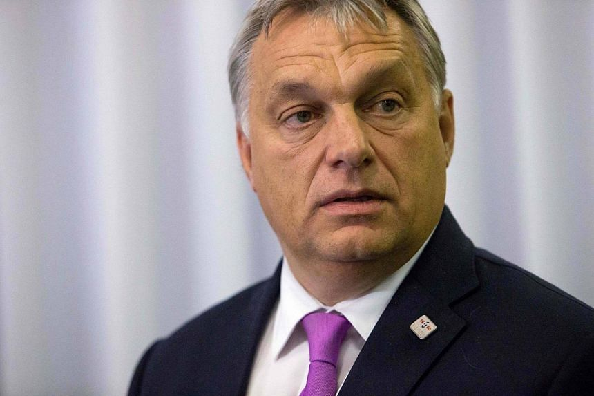 Hungarian Prime Minister Viktor Orban arriving for the press conference after European Union Summit of 27 Heads of State or Government in Bratislava, Slovakia.