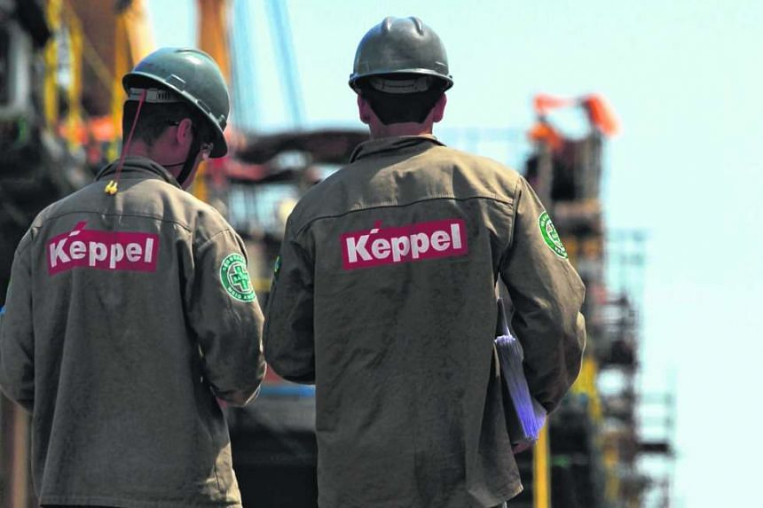 Keppel workers at the Keppel Brasfels shipyard in Angra dos Reis, Brazil, on Jan 22, 2014.
