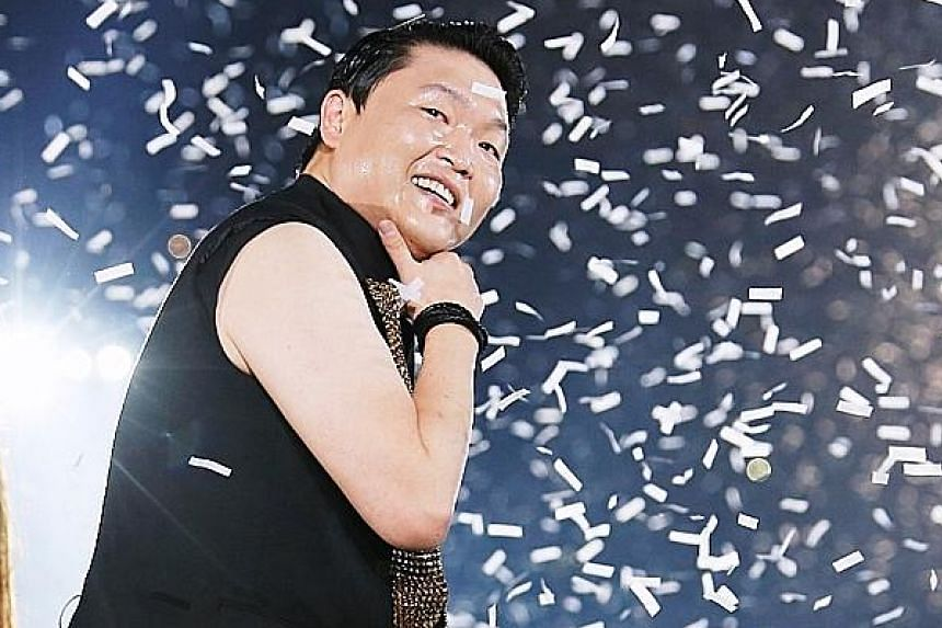 Heating up the stage at the two-hour-long extravaganza are Girls' Generation (Hyoyeon, Seohyun, Yoona, Taeyeon, Sooyoung, Tiffany and Sunny) and Psy (above), best known for his 2012 hit, Gangnam Style.