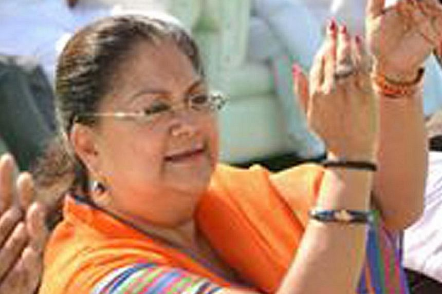 Ms Raje, 63, is known for her flamboyance and style.