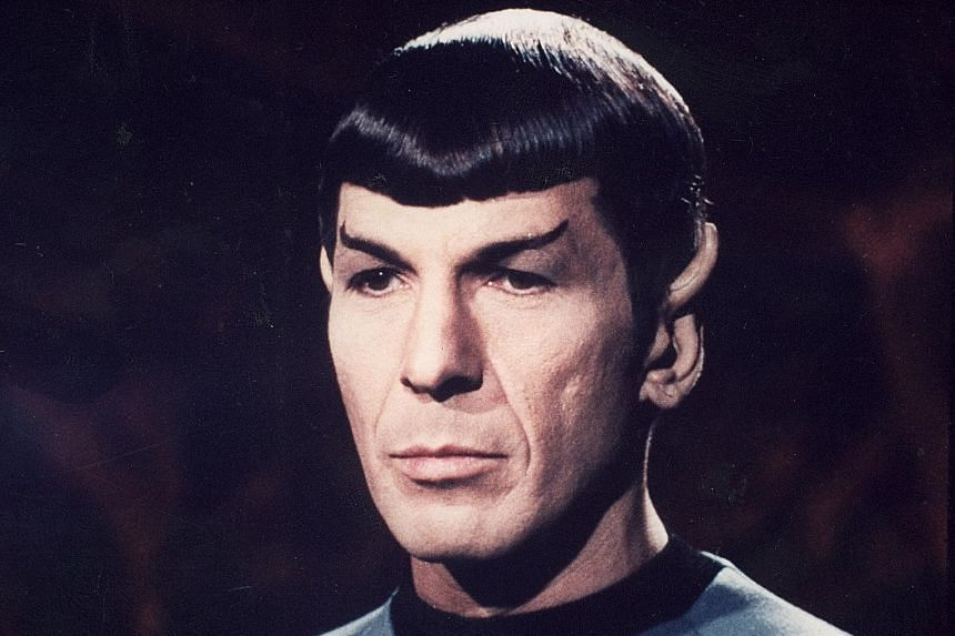 Actor Leonard Nimoy as Spock in the Star Trek series.