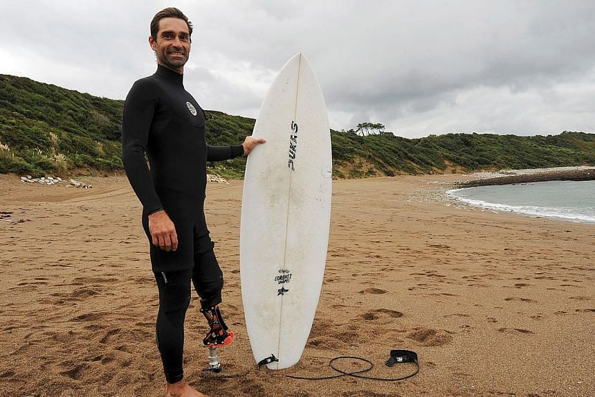 He lost his leg to a shark but refused to lose his spirit or his passion for surfing. Instead, Mr Dargent helped create a prosthetic knee to allow amputee athletes to live their dreams once more.