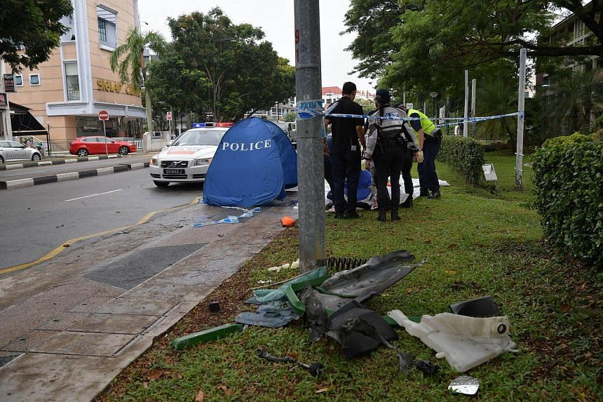 A 25-year-old man died after crashing his car into a centre divider on East Coast Road.