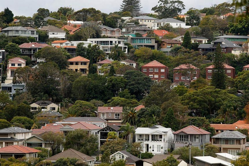 Houses in the suburb of Bellevue Hill in Sydney, Australia, on June 18, 2015.