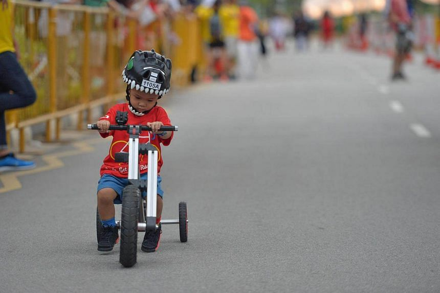 Over 300 children aged two to 12 took part in the Mighty Savers Kids Ride at the OCBC Cycle.