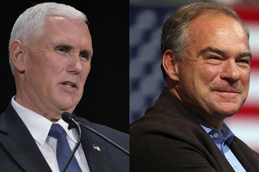 Republican vice-presidential nominee Mike Pence (left) and Democratic vice-presidential nominee Tim Kaine.