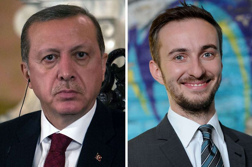 German prosecutors said on Oct 4, 2016 they have scrapped an investigation into comedian Jan Boehmermann (right) for allegedly insulting Turkish President Recep Tayyip Erdogan (left).