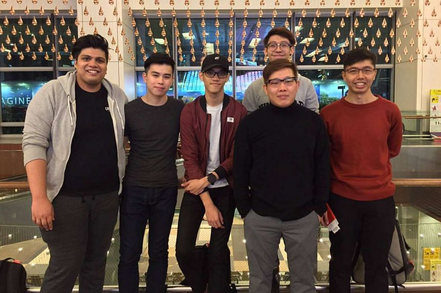 "The Singapore team that will be representing Asia in the CS:GO World Championships. (Left to right) Kumaresan ""Tommy"" Ramani, 22; Benjamin ""moxie"" Kou, 24; Benedict ""Benkai"" Tan, 20; Nevin ""splashske"" Aw, 17 (at back); Benny ""Genera"