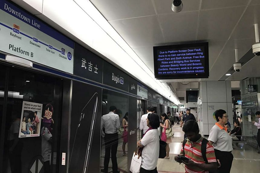 The Downtown Line had a service disruption on Tuesday morning.