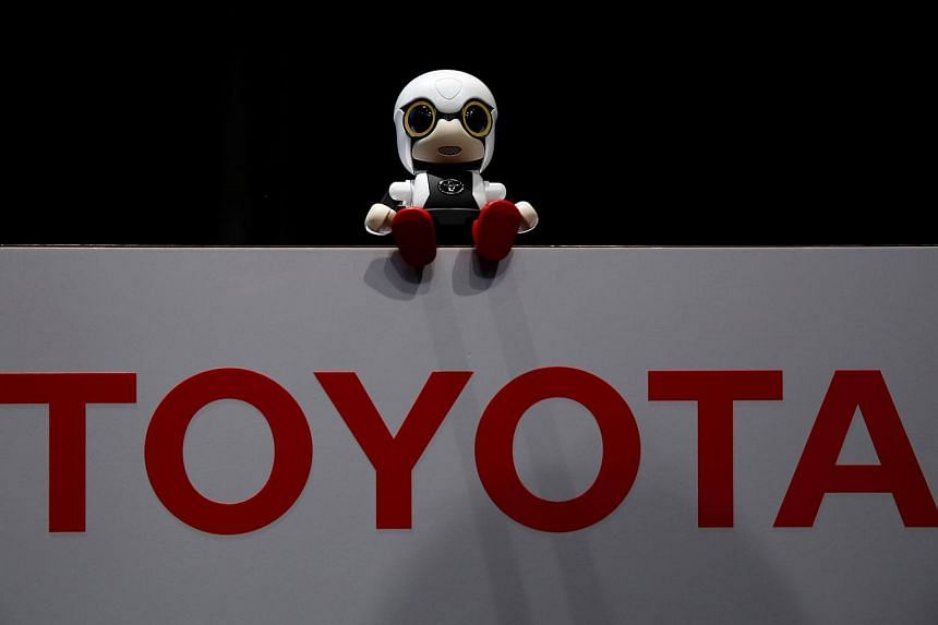 Toyota Motor Corp's Kirobo Mini robot is pictured during a photo opportunity after a news conference in Tokyo, Japan.