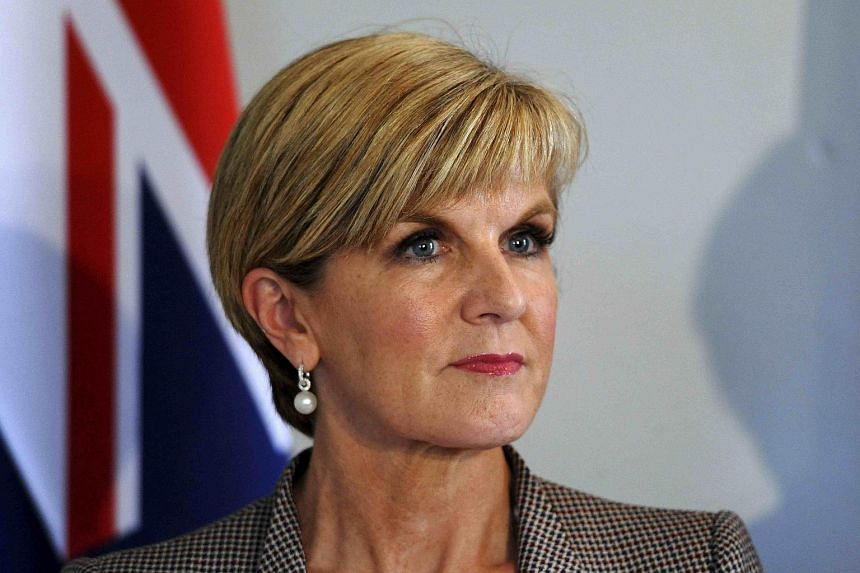 Australian Foreign Affairs Minister Julie Bishop (above) has indicated that her government could not bail out nine Australians for stripping down to swimwear at the Malaysian Grand Prix on Sunday (Oct 2).