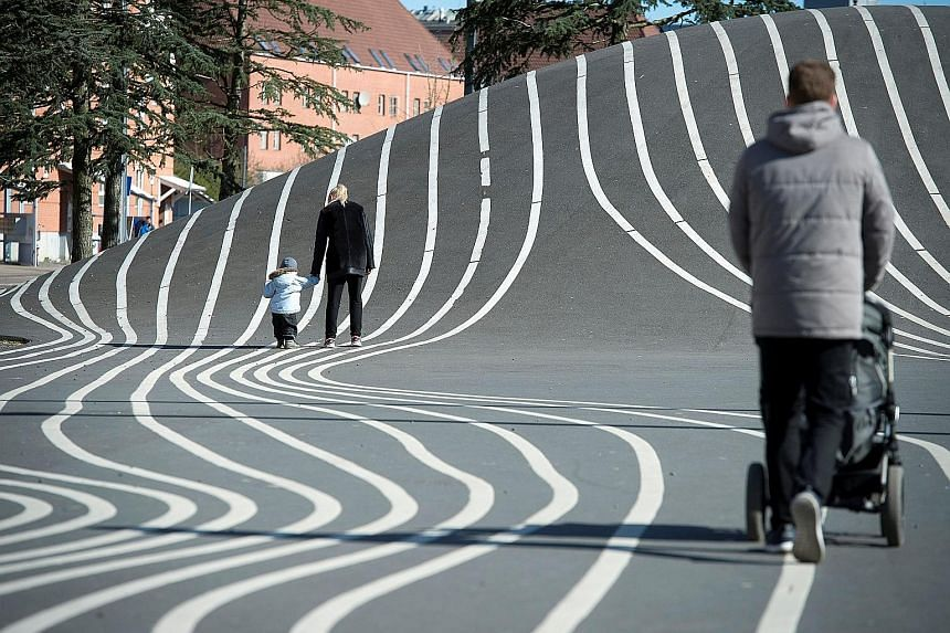 Superkilen is a series of public spaces in a deprived immigrant area of the Danish capital Copenhagen.