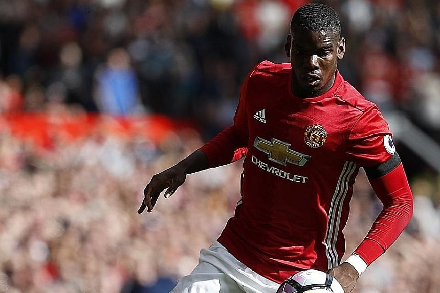 Manchester United midfielder Paul Pogba in action against Stoke City in the English Premier League. The world's most expensive footballer failed to lead his side to victory last Sunday, with the teams drawing 1-1 at Old Trafford.