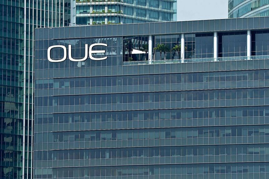 The OUE building in Singapore.