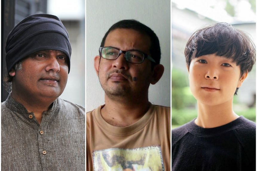 Singaporean film-makers (from left) K. Rajagopal, Abdul Nizam and Gladys Ng will be in the spotlight at the upcoming Singapore International Film Festival.