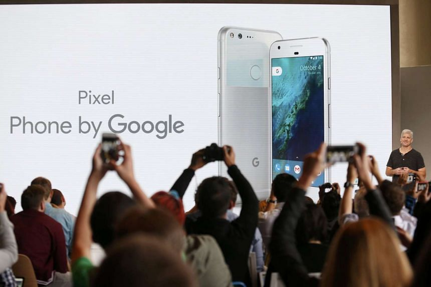 Rick Osterloh, senior vice-president of hardware at Google, introduces the Pixel Phone in San Francisco, California, Oct 4, 2016.