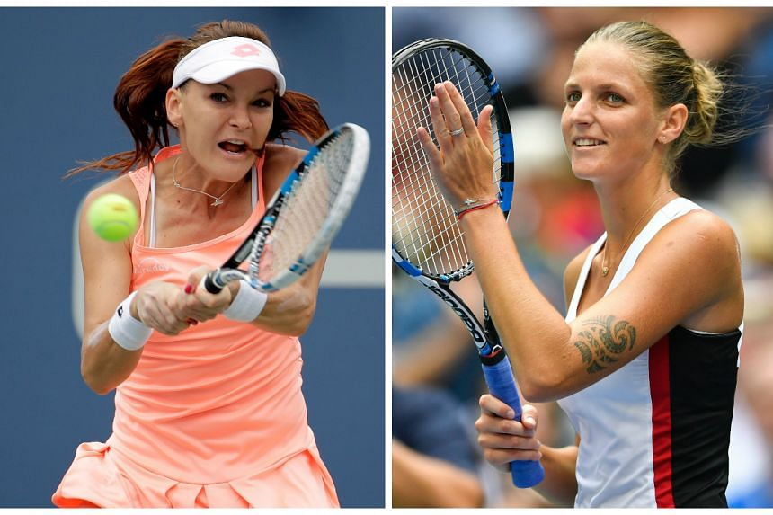 World number three Agnieszka Radwanska (left) and the Czech Republic's Karolina Pliskova have both secured their places at the Tour Finals in Singapore.