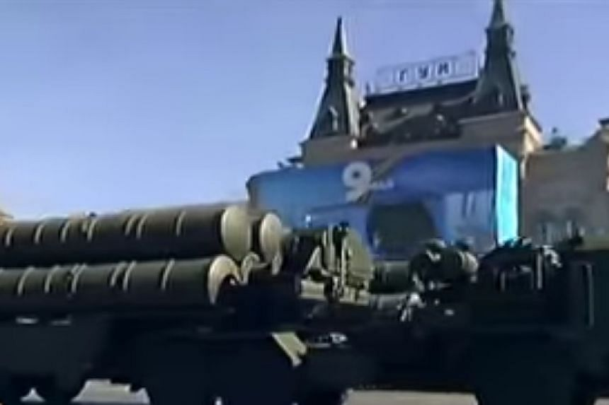 A file picture of Russia's S-300 anti-aircraft missiles.