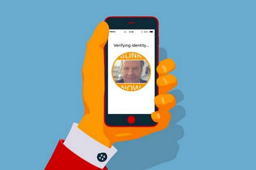 An illustration of how Mastercard's new selfie payment method works.