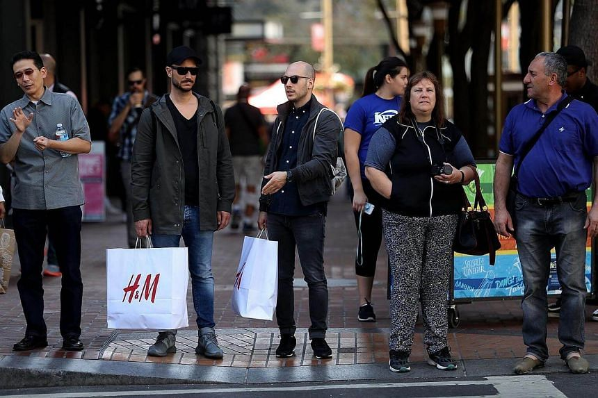 Shoppers in San Francisco on Aug 29, 2016.