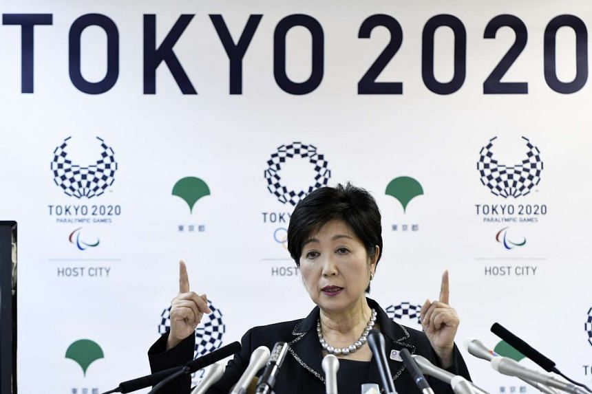 Ms Yuriko Koike, at yesterday's press conference, reiterating her aim to cut costs a day after a panel said organisation costs for Tokyo 2020 could swell four times.