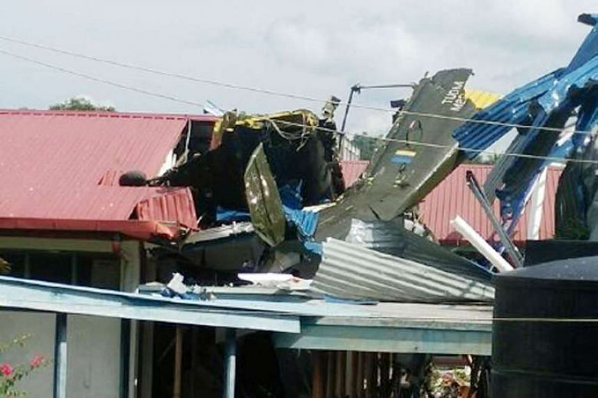 At least 17 people, including some students, were injured when a Royal Malaysian Air Force helicopter, carrying more than a dozen personnel on board, crashed into a school in Tawau, Sabah, yesterday.