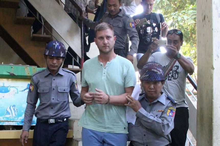 Klaas Haytema, 30, was arrested after he entered a community hall in the central city of Mandalay on Sept 23 and disrupted a Buddhist sermon.