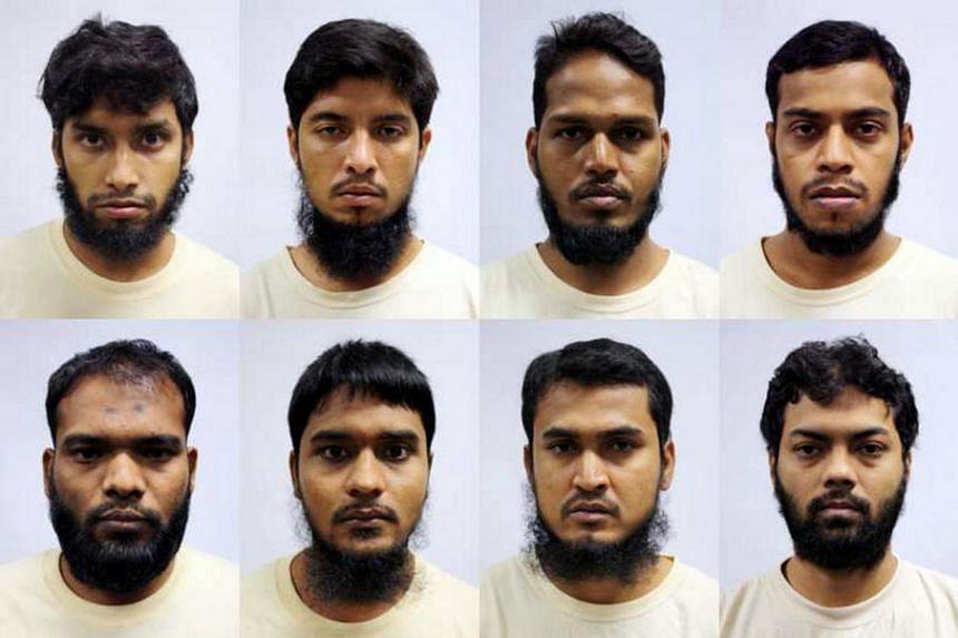 The eight Bangladeshi nationals (clockwise from top left) Islam Shariful, Mamun Leakot Ali, Md Jabath Kysar Haje Norul Islam Sowdagar, Miah Rubel, Rahman Mizanur, Sohag Ibrahim, Sohel Hawlader Ismail Hawlader and Zzaman Daulat.