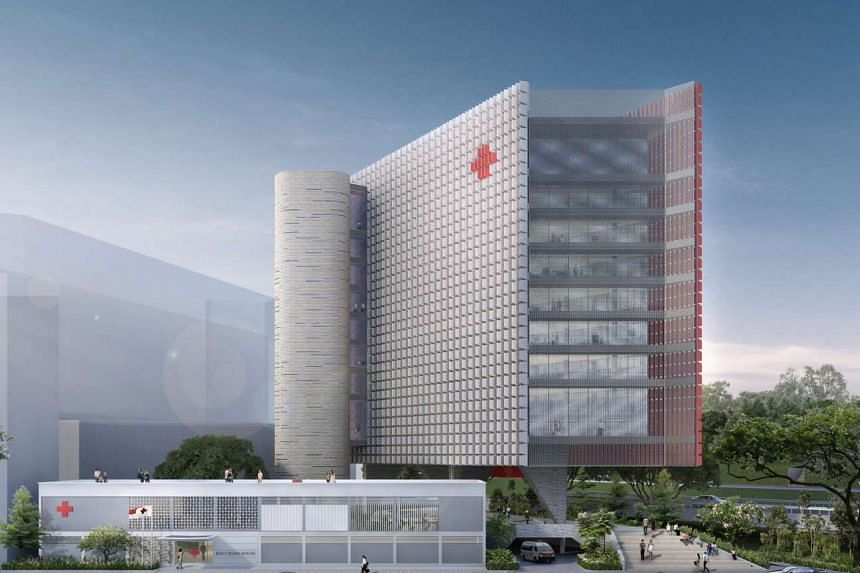 An artist's impression of the new Singapore Red Cross building at Penang Lane.