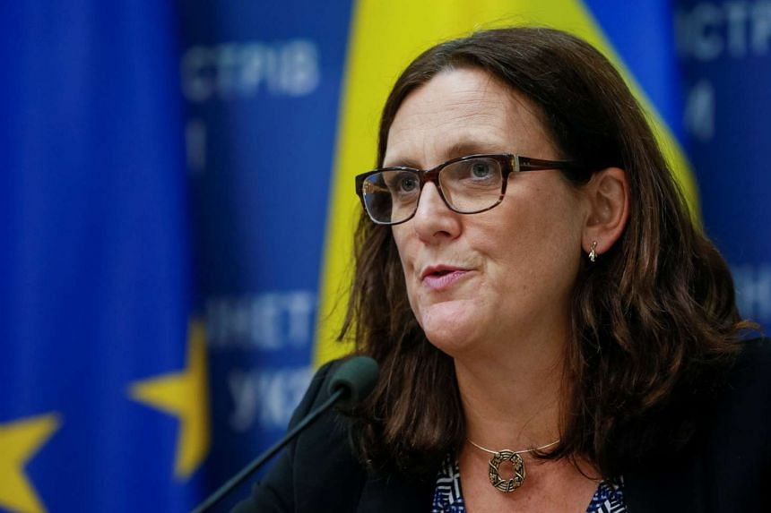 EU Trade Commissioner Cecilia Malmstrom criticised a Thai court ruling which ruled against a British human rights worker.